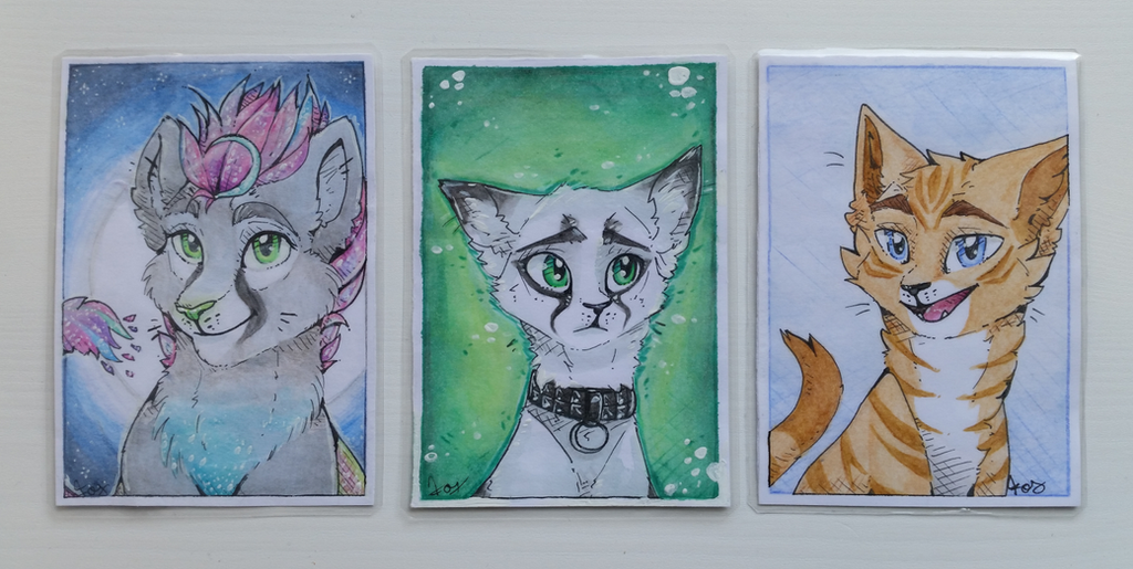 Luna, Traenenfrost and Gin | CharacterCards by Foxface-x3