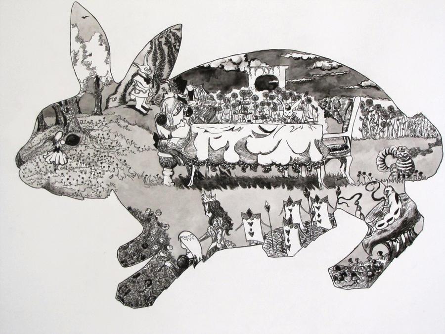 SCAD art 3 Alice in wonderland by sailornibiru1