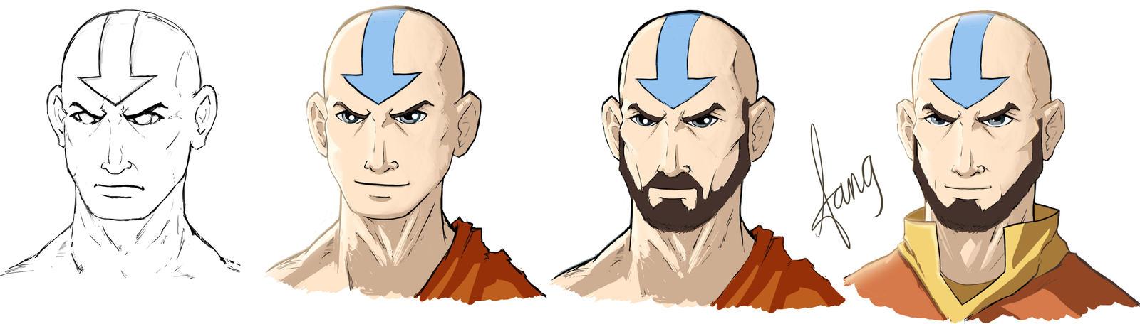 Avatar Aang 2 by AzadX on DeviantArt: azadx.deviantart.com/art/Avatar-Aang-2-336641508