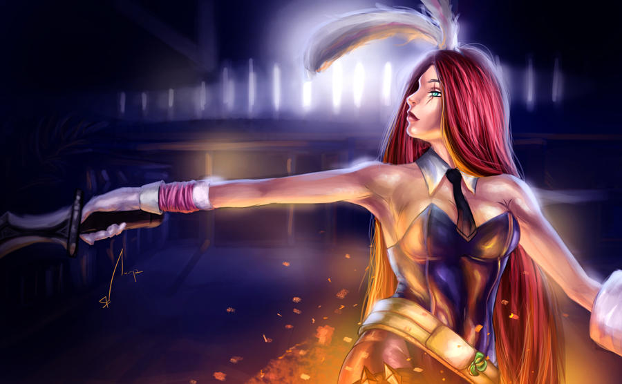 Battle Bunny Katarina by sahz06