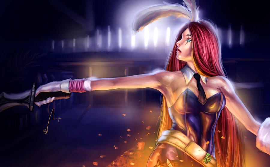 Battle Bunny Katarina by sahz06