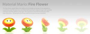 Material Mario: Fire Flower