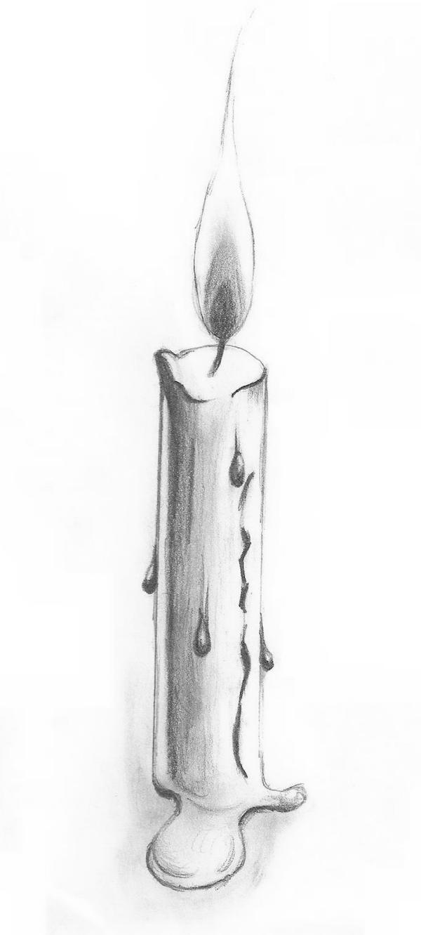 It's just a picture of Selective Drawing Of A Candle