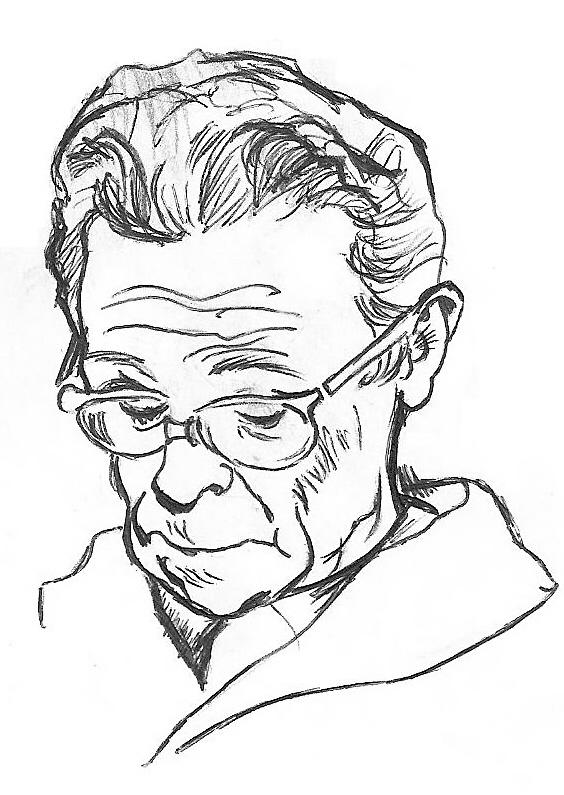 Line Drawing Man : Old man reading ink sketch by gforce on deviantart