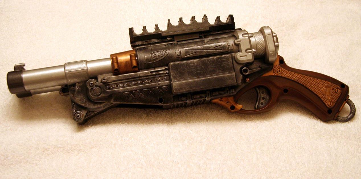 SteamPunk Nerf Shotgun by JohnsonArms