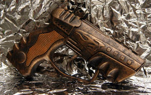 SteamPunk Cap Gun - Bronze by JohnsonArmsProps