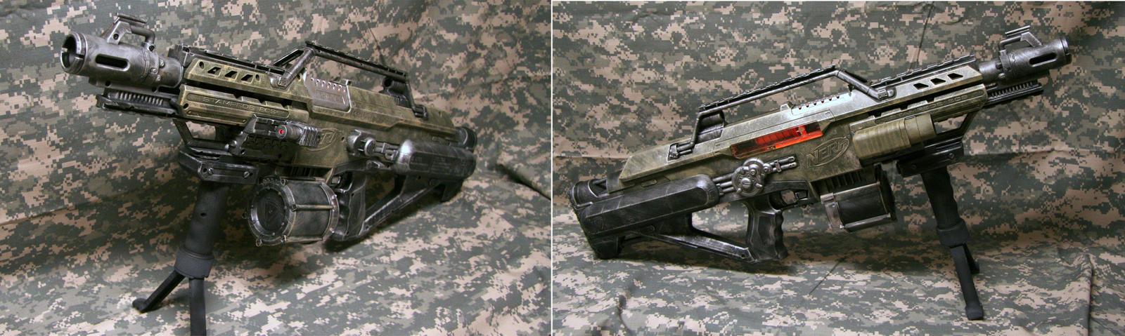Ultra Custom Nerf Stampede by JohnsonArms