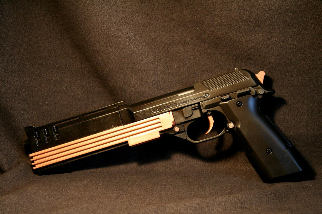 Anime style Beretta Pistol by JohnsonArms