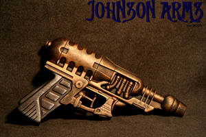 Steam Punk Pistol in brass by JohnsonArmsProps