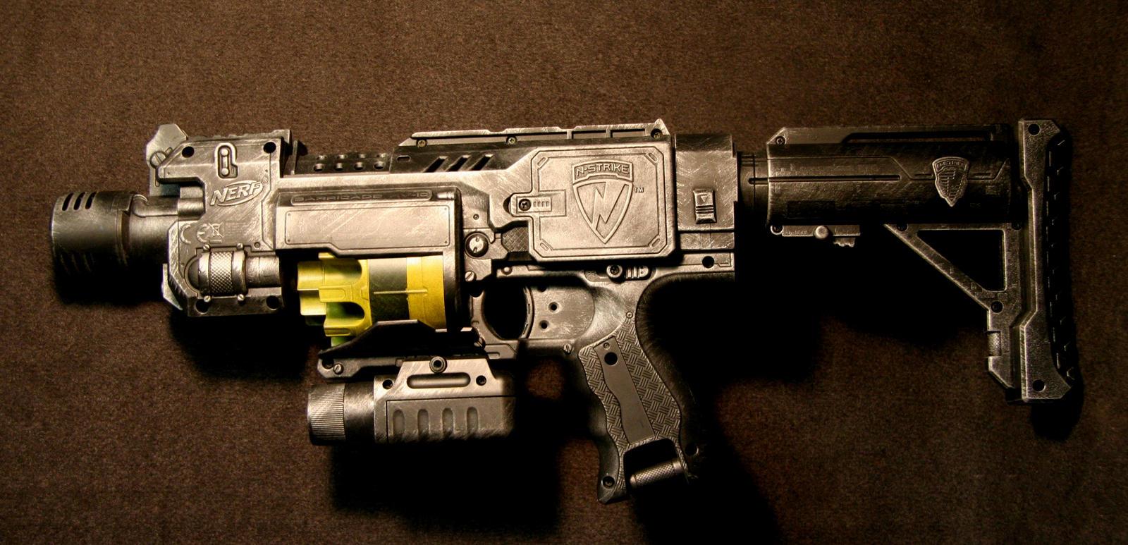 Dieselpunk Weapons Diesel punk nerf barricade byDieselpunk Weapons