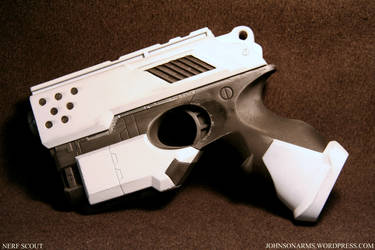Artic White Nerf Scout by JohnsonArmsProps