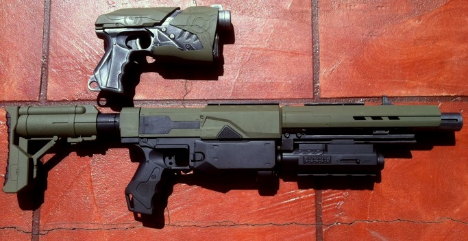 Tactical Nerf Hybrid WIP 1 by JohnsonArms