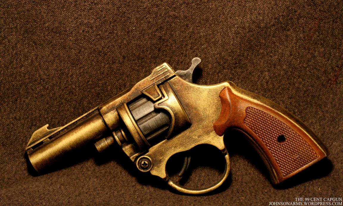 Dollar Store Cap Gun in Brass by JohnsonArms