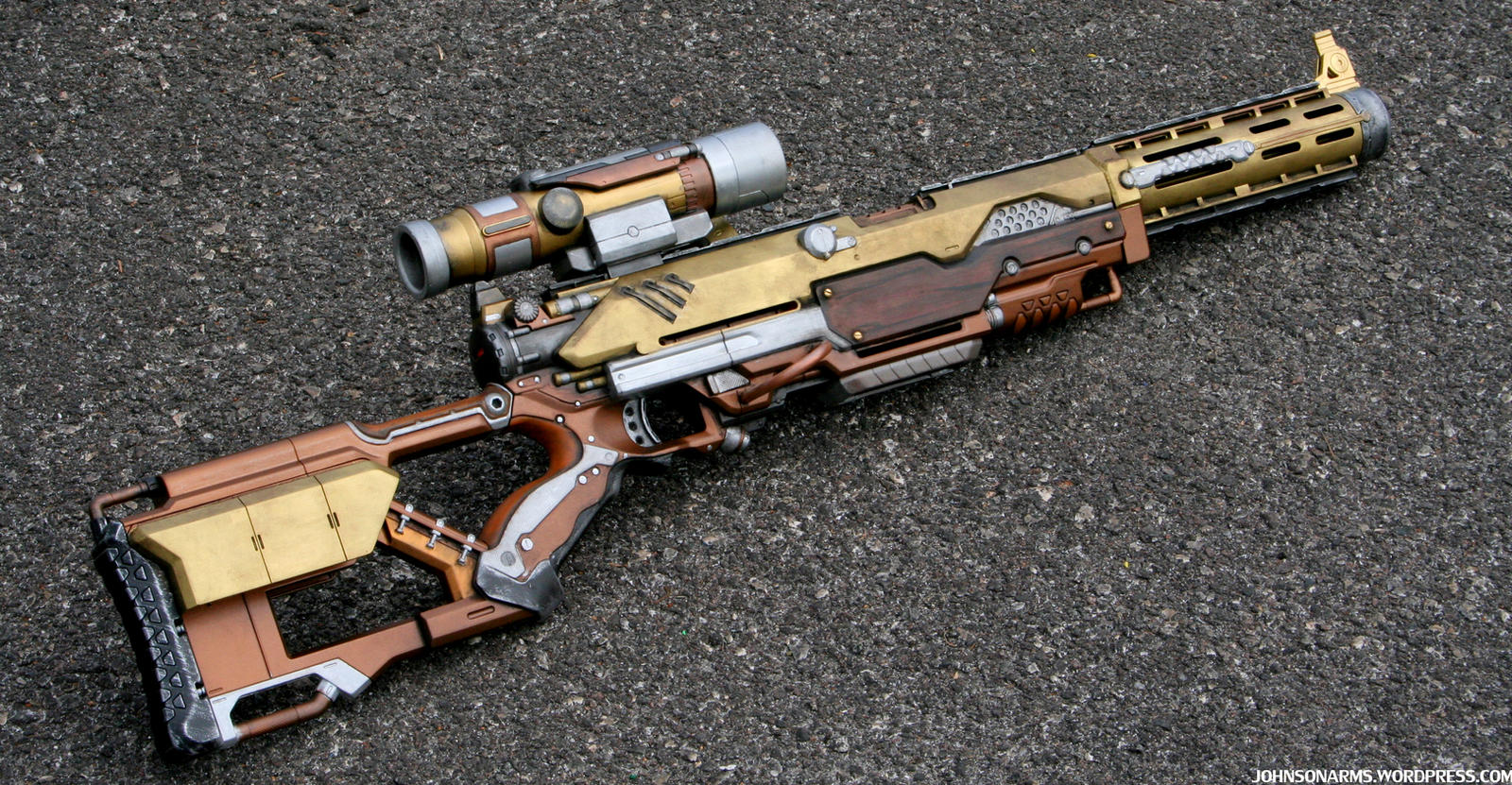 Steampunk Rifle - Outdoors Photo 2 by JohnsonArmsProps