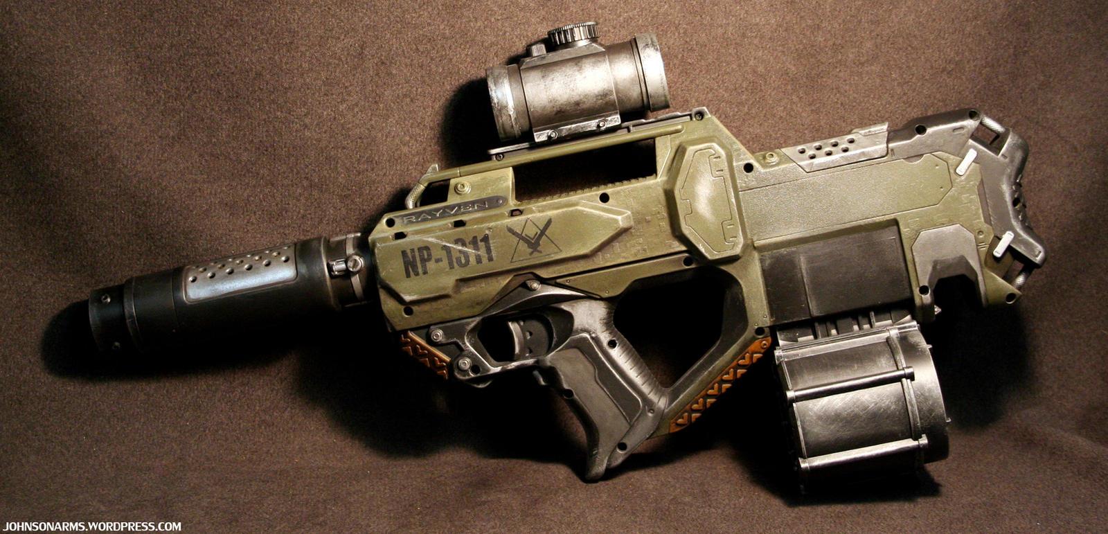 HALO Themed Nerf Rayven by JohnsonArms