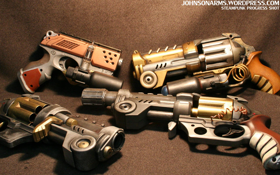Steampunk Pistols Galore by JohnsonArms