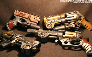 Steampunk Pistols Galore by JohnsonArmsProps