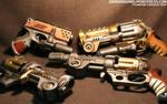 Steampunk Pistols Galore