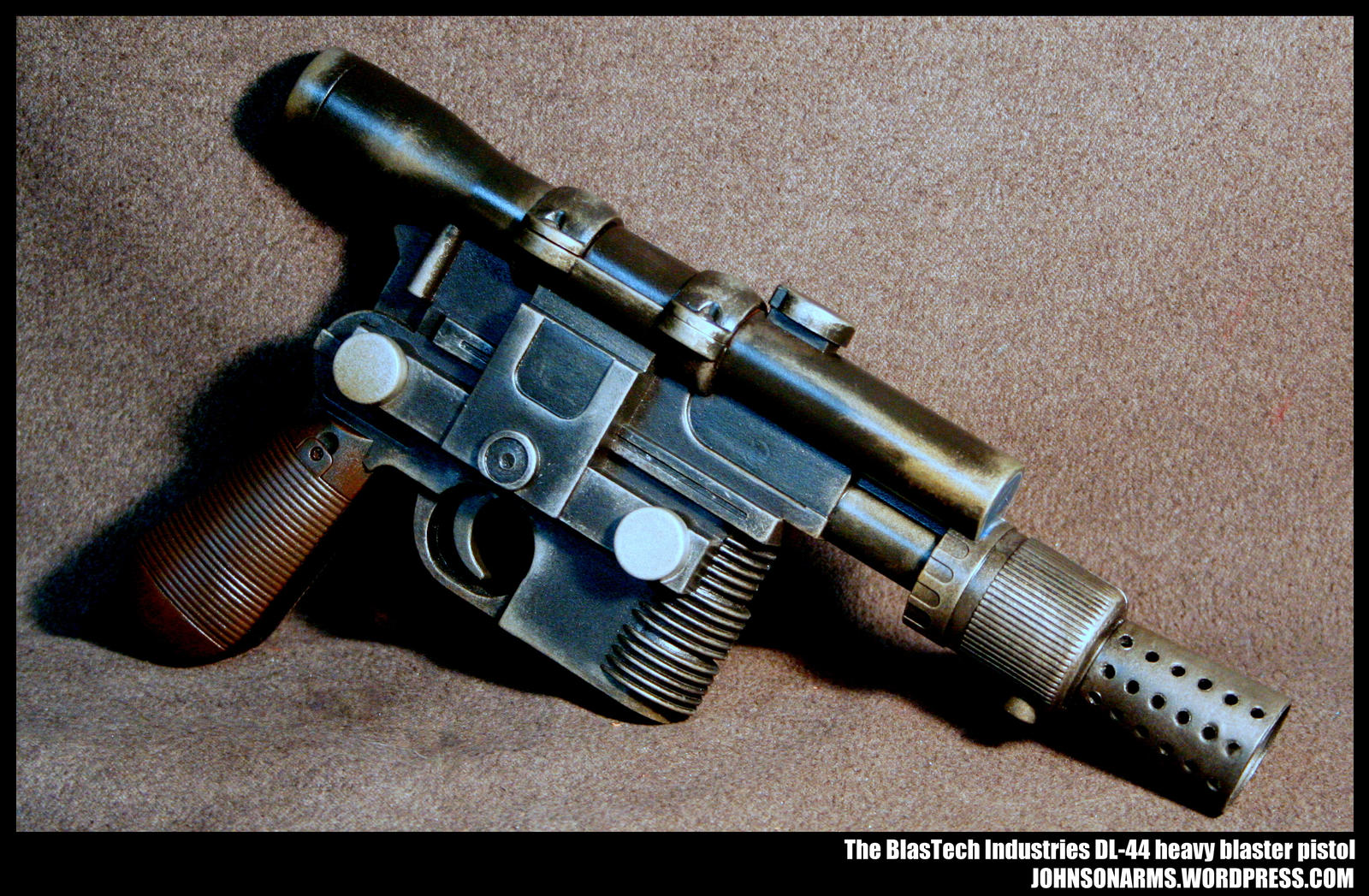 The BlasTech Industries DL-44 heavy blaster pistol by JohnsonArms