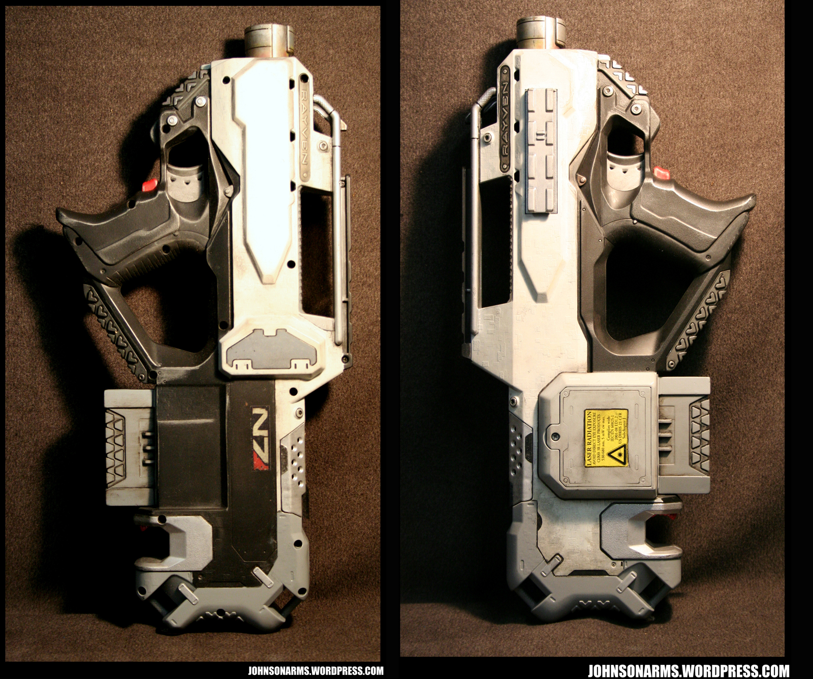 Mass Effect-style Nerf Rayven - Non-Standard Issue by JohnsonArms