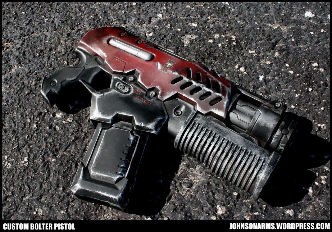 Warhammer 40k Inspired Bolter Pistol by JohnsonArms