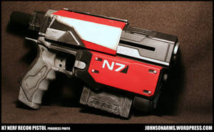 Mass Effect Themed Nerf Recon Progress Photo by JohnsonArmsProps