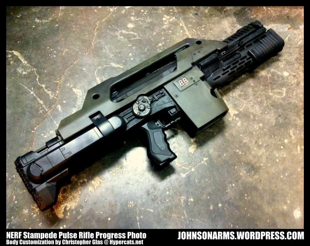 Nerf Stampede Pulse Rifle Progress by JohnsonArms