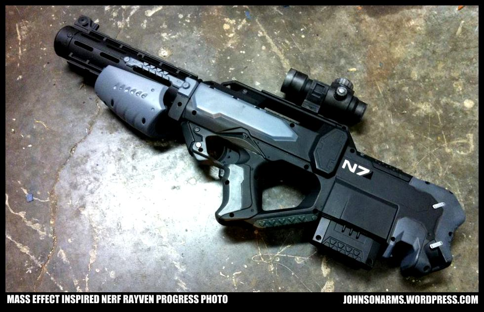 Mass Effect Inspired Nerf Rayven by JohnsonArms