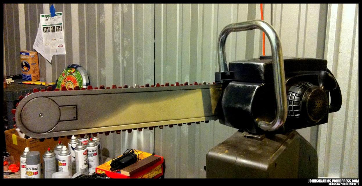 Chainsaw Prop Progress by JohnsonArms