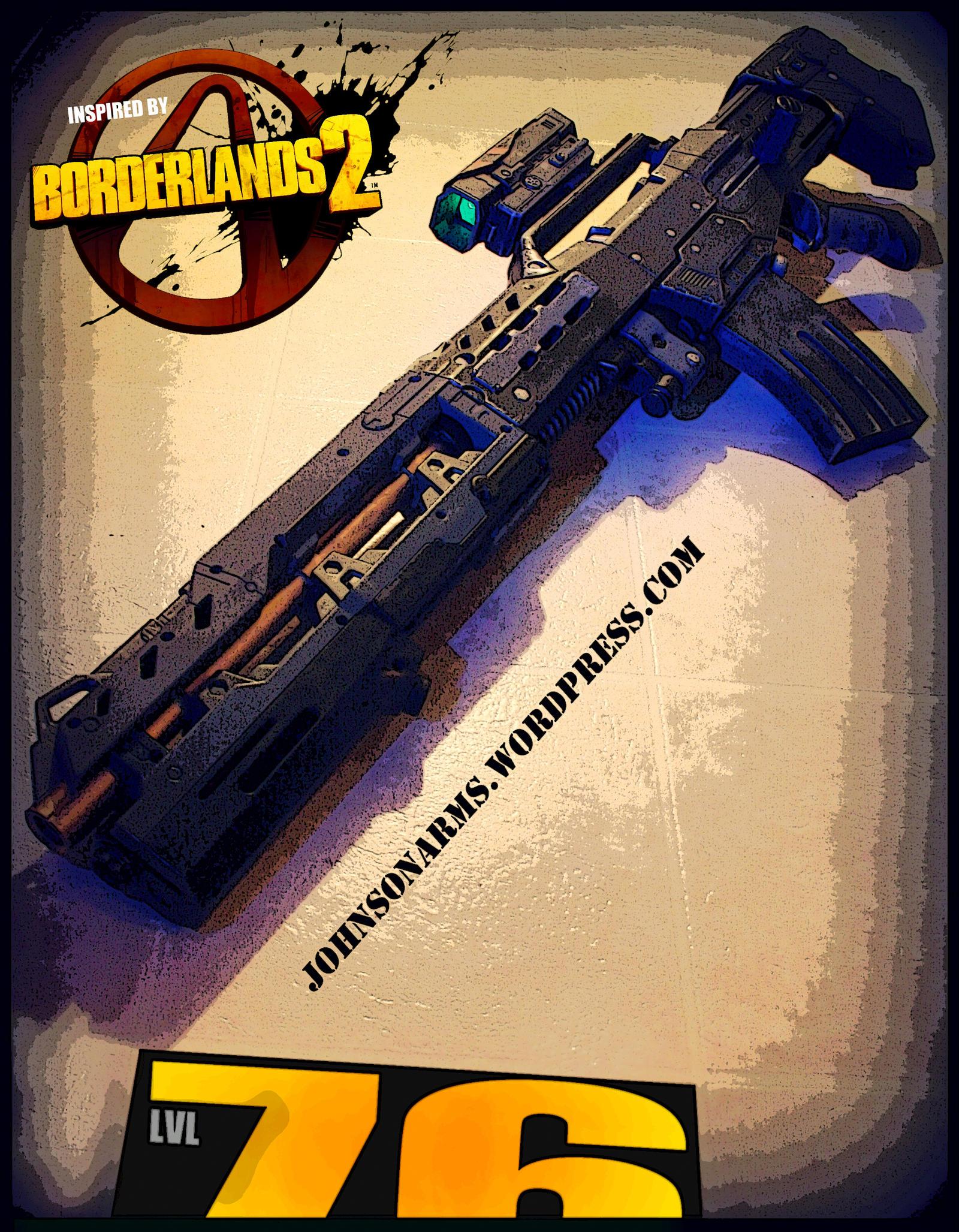 Borderlands 2 Themed Nerf Longshot by JohnsonArms