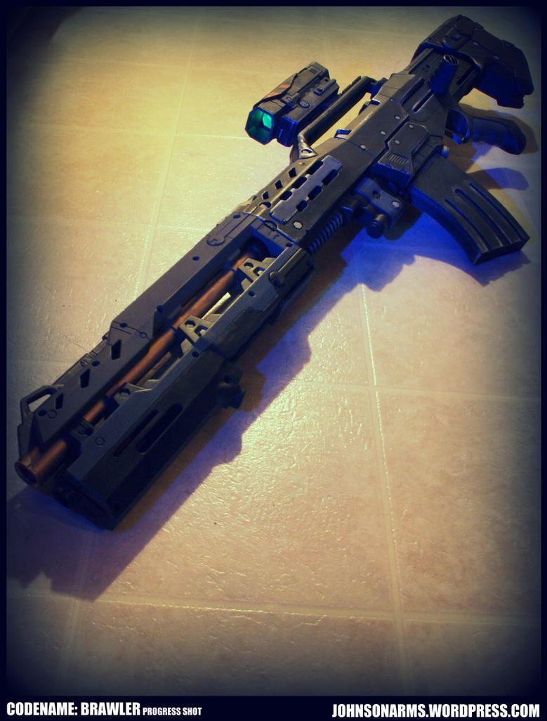 Custom NERF - Codename: Brawler  -Progress Shot by JohnsonArms