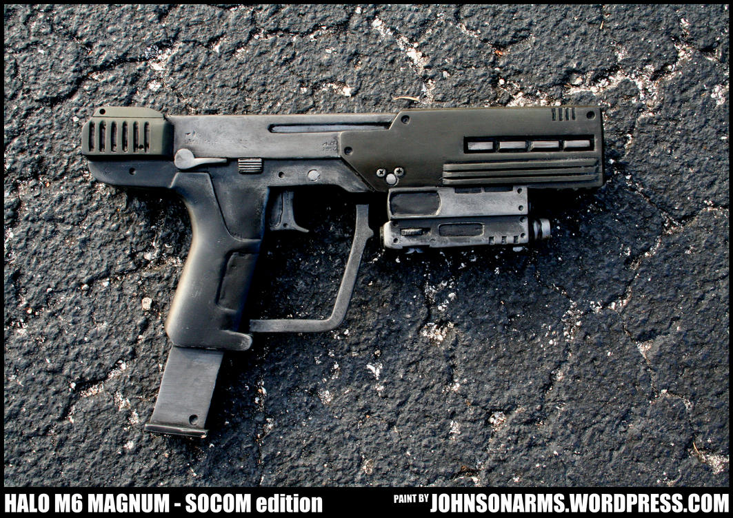 Halo M6C Magnum SOCOM - Solid Resin Replica by JohnsonArms