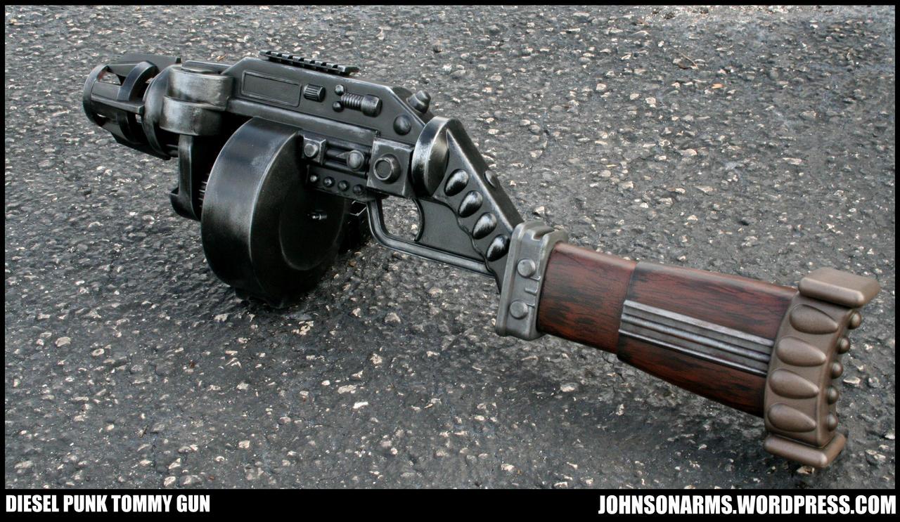 Mobster Dieselpunk Tommy Gun Prop