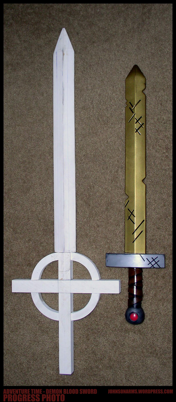 Adventure Time - Demon Blood Sword Progress by JohnsonArms