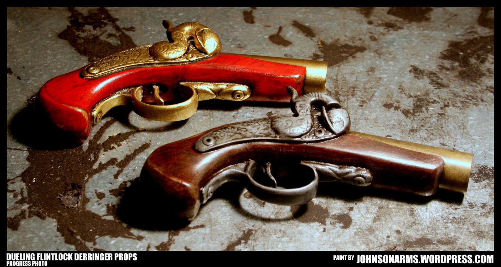 Dueling Flintlock Derringer Props by JohnsonArms