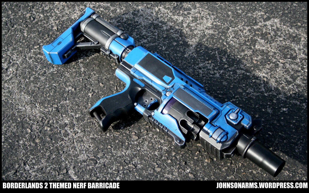 Borderlands 2 Themed Nerf Barricade by JohnsonArms