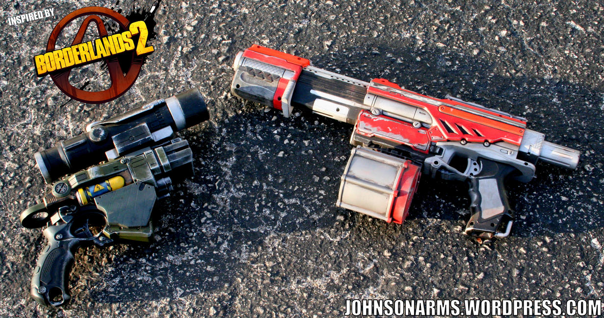 Borderlands 2 Themed Nerf Guns by JohnsonArms