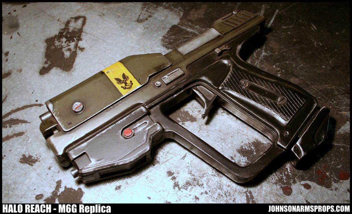 Olive Drab Halo Reach M6G Replica by JohnsonArms