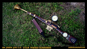1889 Steam-Powered Blunderbuss by Johnson Arms