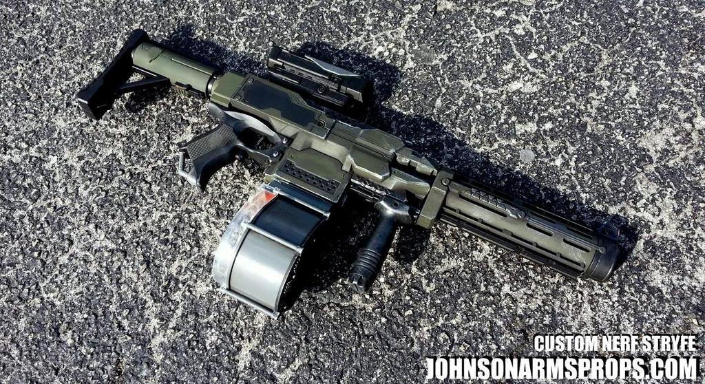 Halo Themed Nerf Stryfe by JohnsonArms