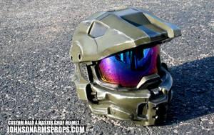Master Chief Helmet - Mark VI version by JohnsonArmsProps