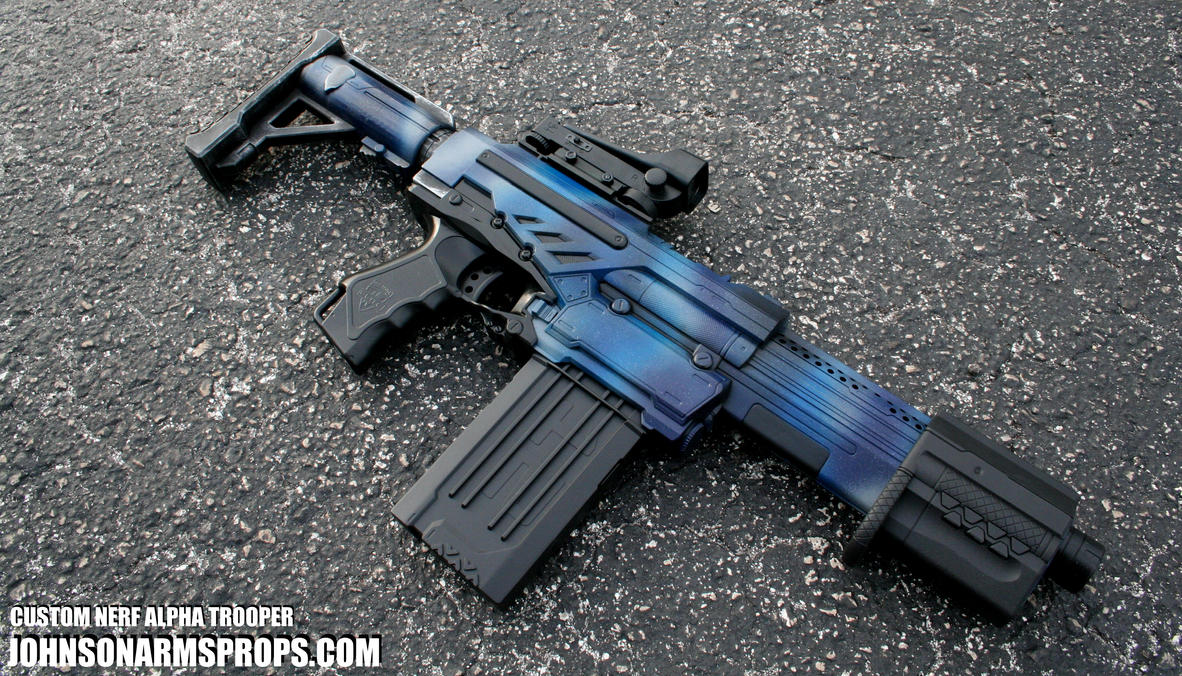 Custom Nerf Alpha Trooper - Night Camo edition by JohnsonArms