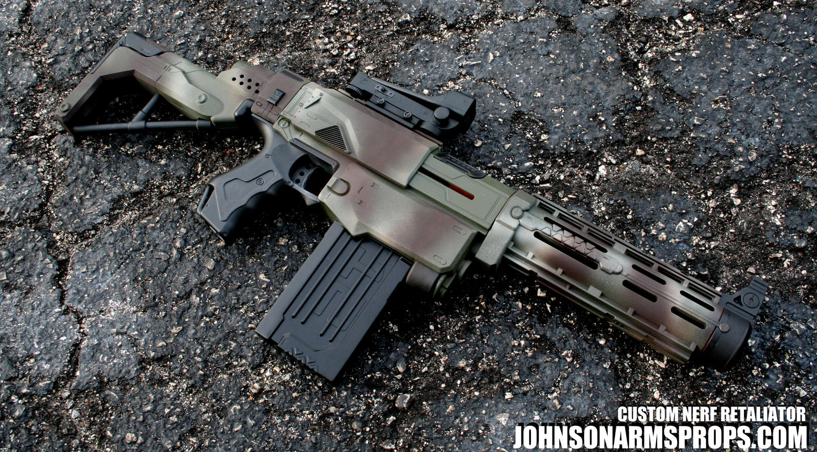 Jungle Camo Nerf Retaliator by JohnsonArms