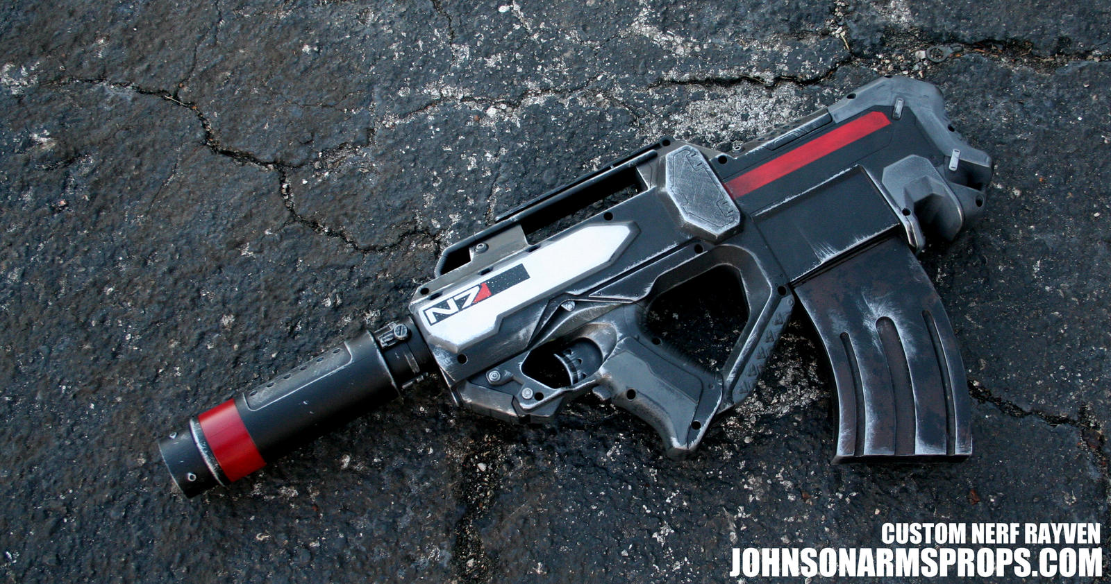 Mass Effect 3 Themed Nerf Elite Rayven by JohnsonArms