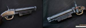 Steampunk Sawed-off Shotgun Prop by JohnsonArmsProps