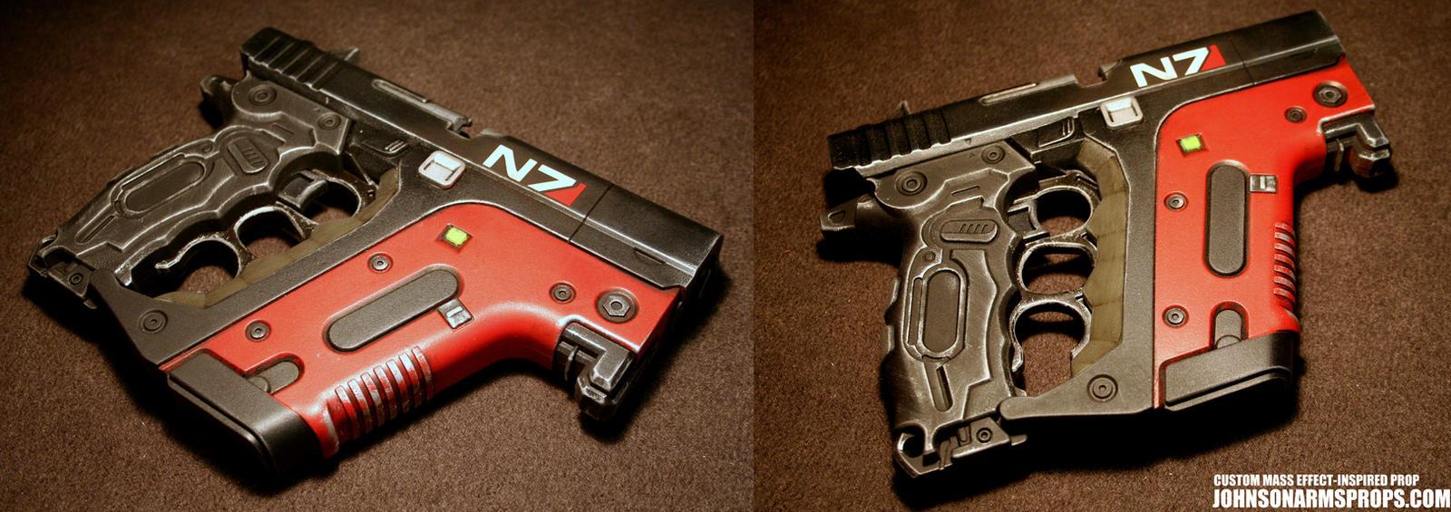 Custom Mass Effect-inspired Energy Pistol by JohnsonArms