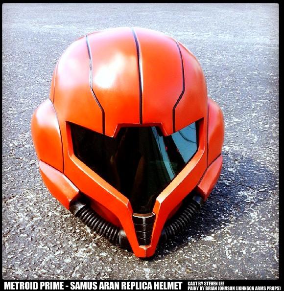 Metroid Prime - Samus Aran Helmet Replica by JohnsonArms