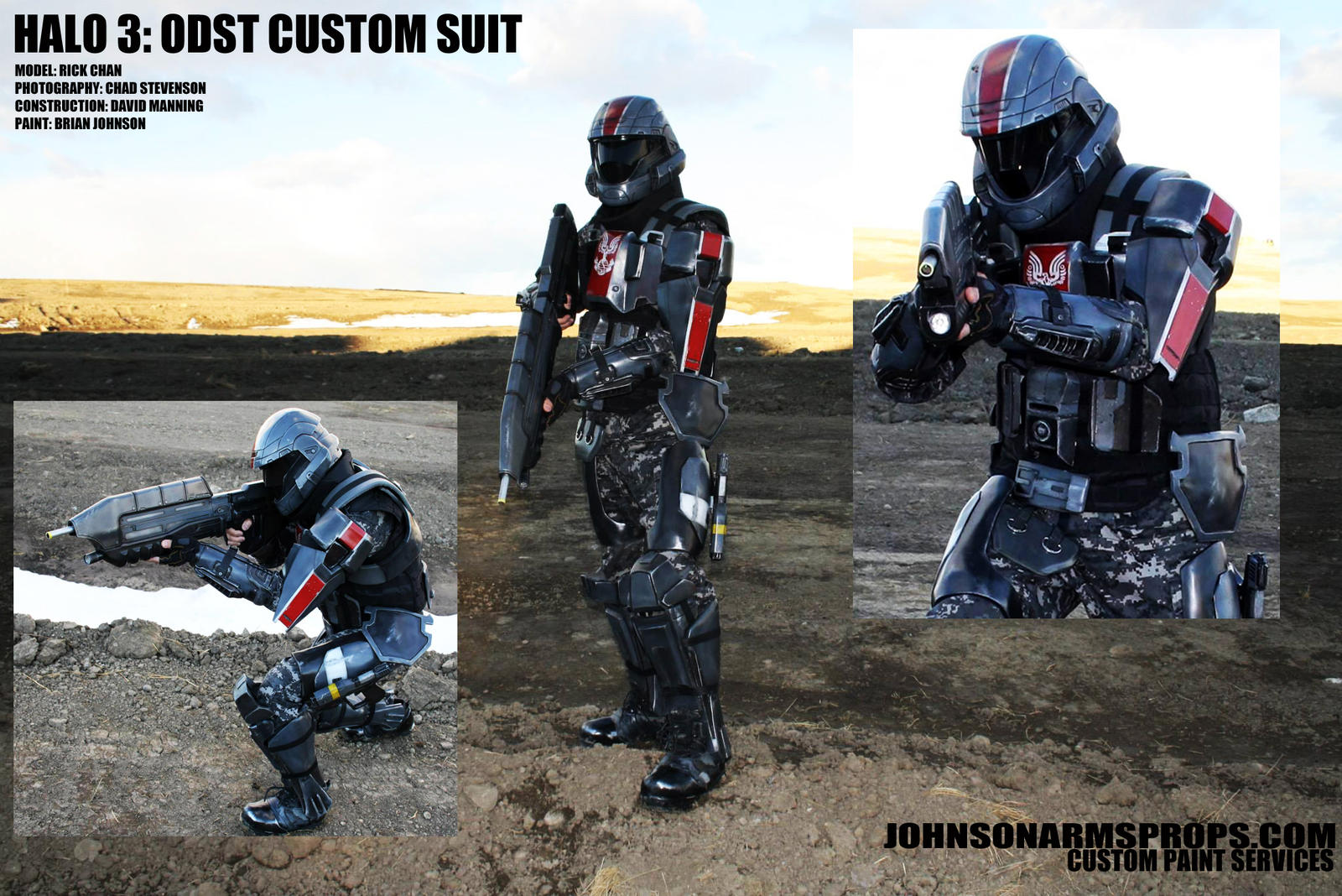 Completed HALO 3 ODST Custom Suit by JohnsonArms