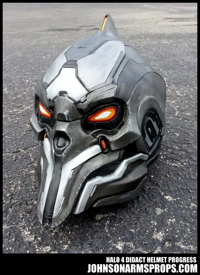 Halo 4 Didact Helmet Paintjob Progress by JohnsonArms