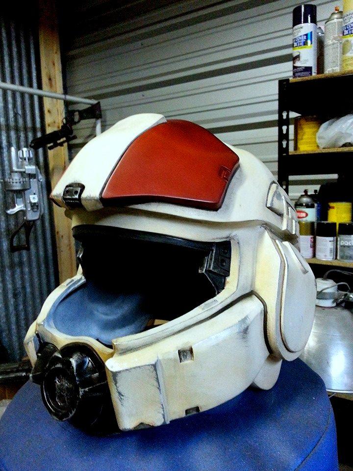 Halo 4 Infantry Marine Helmet Progress by JohnsonArms